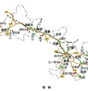 青海新疆旅游路线图